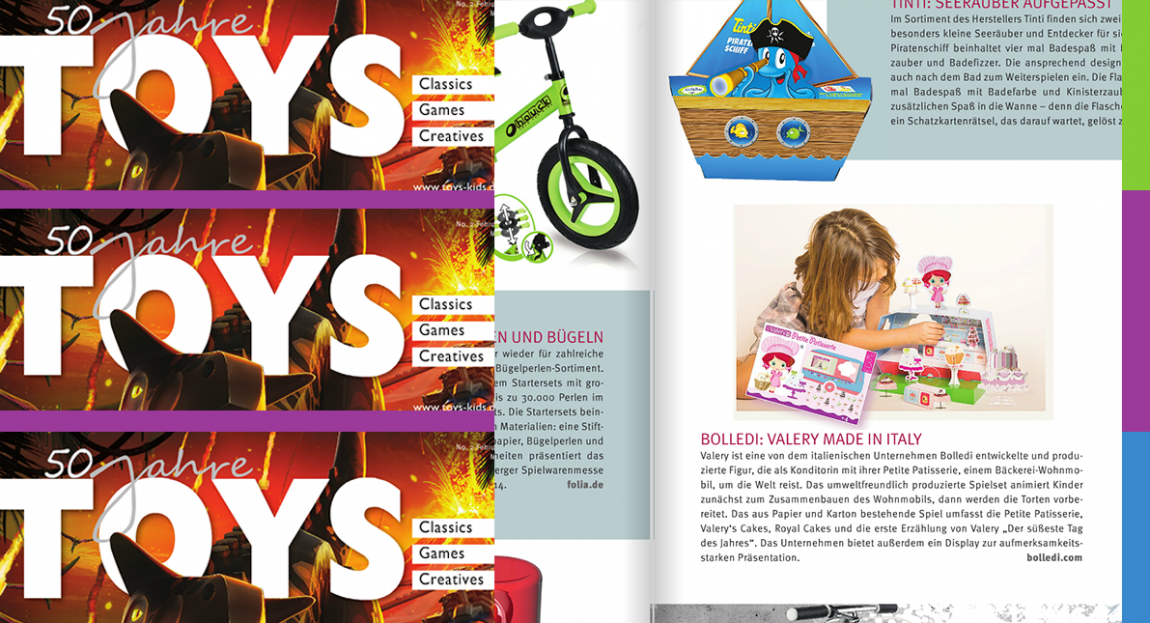 Valery is on the international TOYS magazine